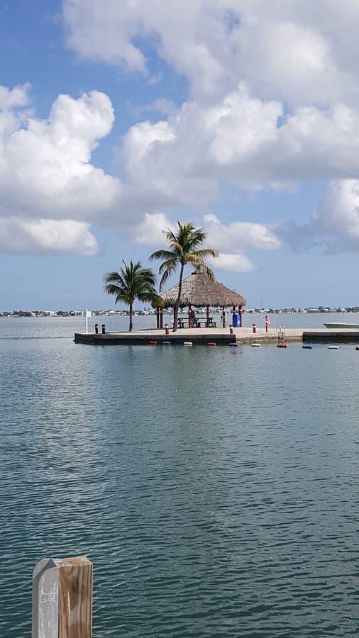 在Cudjoe钥匙佛罗里达的大风天 免版税图库摄影