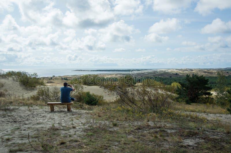 在curonian分裂的休闲 图库摄影