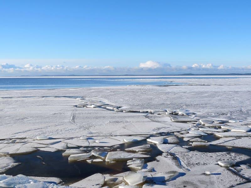 Curonian海湾,立陶宛 免版税库存照片