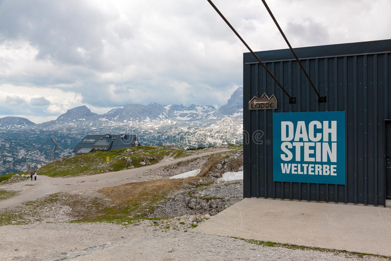在Dachstein顶部 库存图片