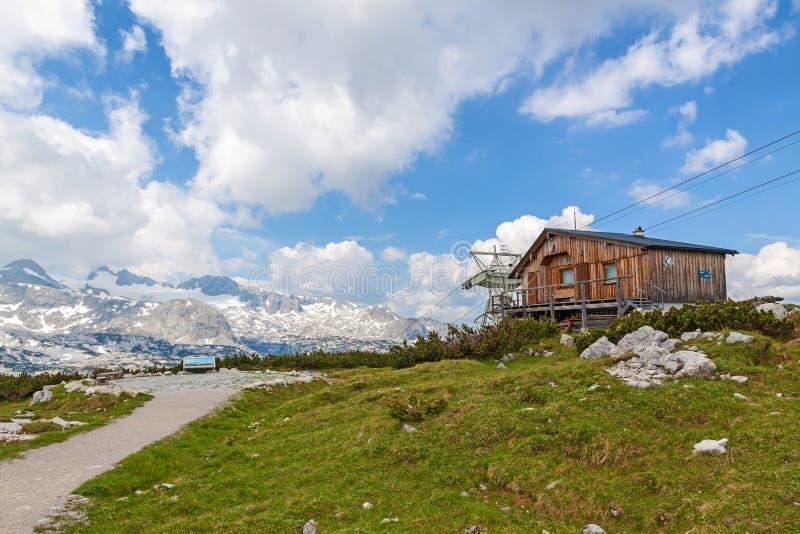 在Dachstein顶部 免版税图库摄影