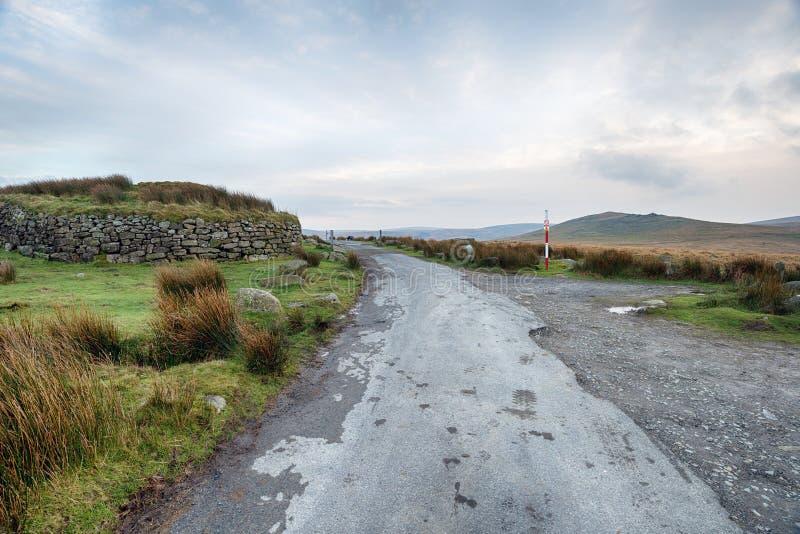 在Dartmoor的冬天 免版税库存图片