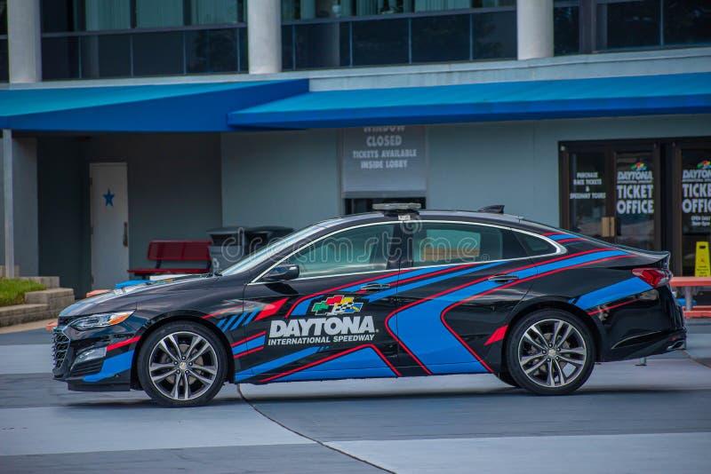 在Daytona国际赛车场2的Daytona 500汽车 库存照片