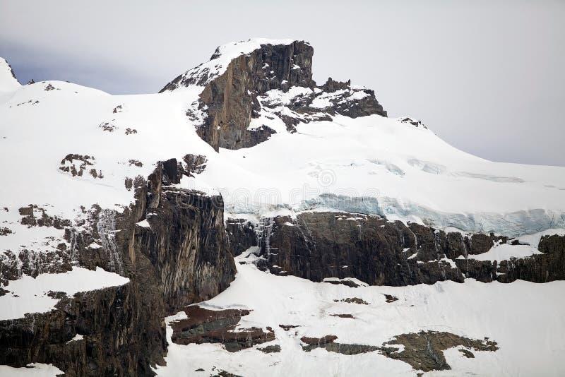 在Desert湖,阿根廷的冰川 免版税库存图片