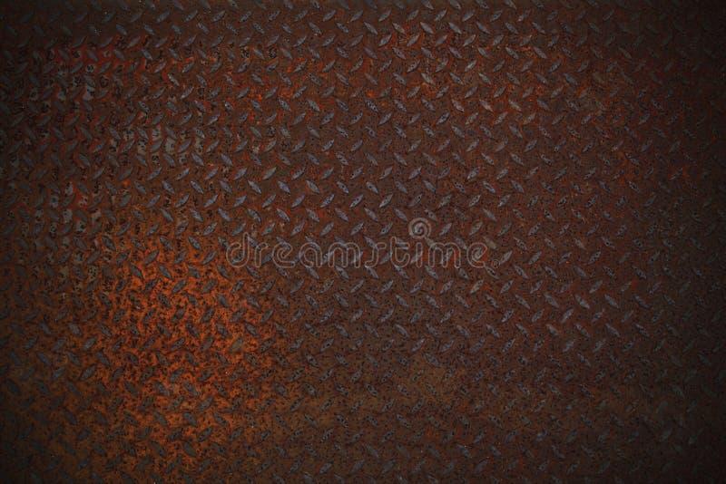 在diamone板材的铁锈纹理 免版税库存图片