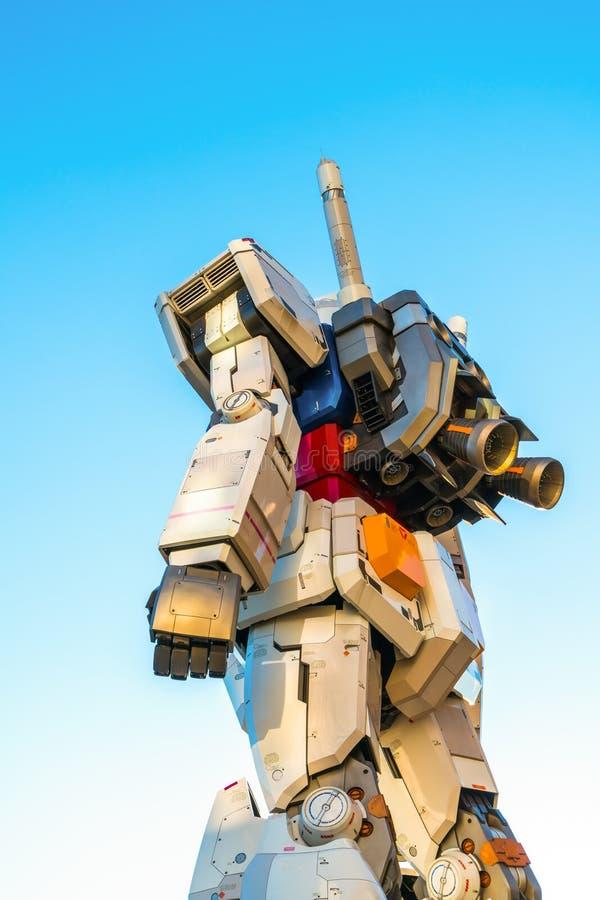 在DiverCity东京广场之外的大型Gundam表现, Oda 皇族释放例证