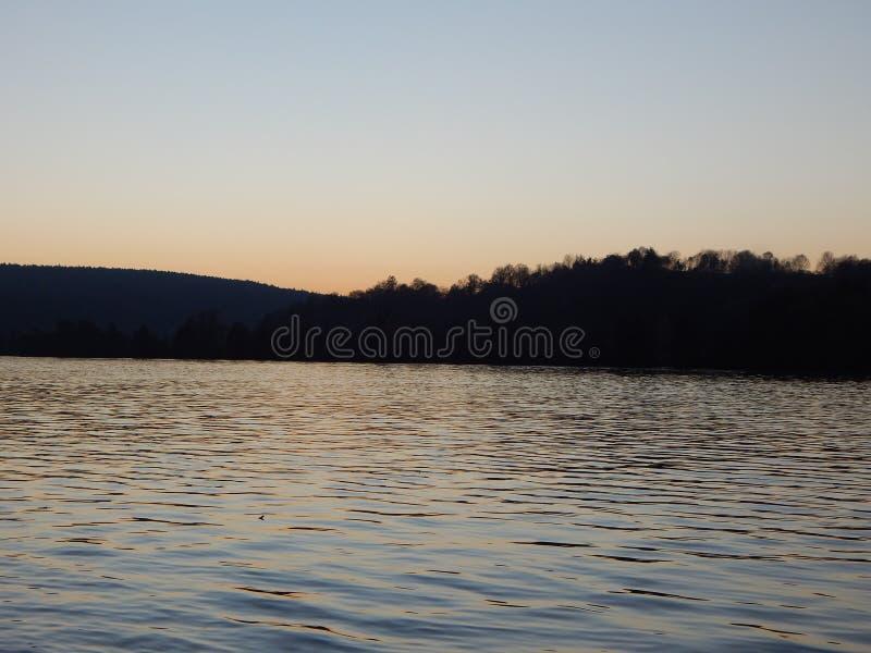 在Donau的日落 免版税库存照片