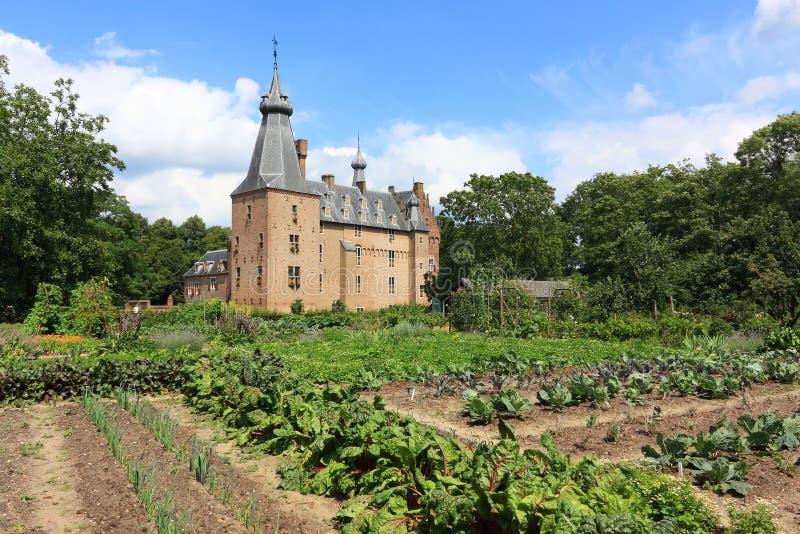 在Doorwerth城堡前面的庭院荷兰 库存照片