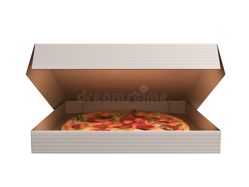 在dox 3d的可口意大利薄饼回报在白色背景n 库存例证