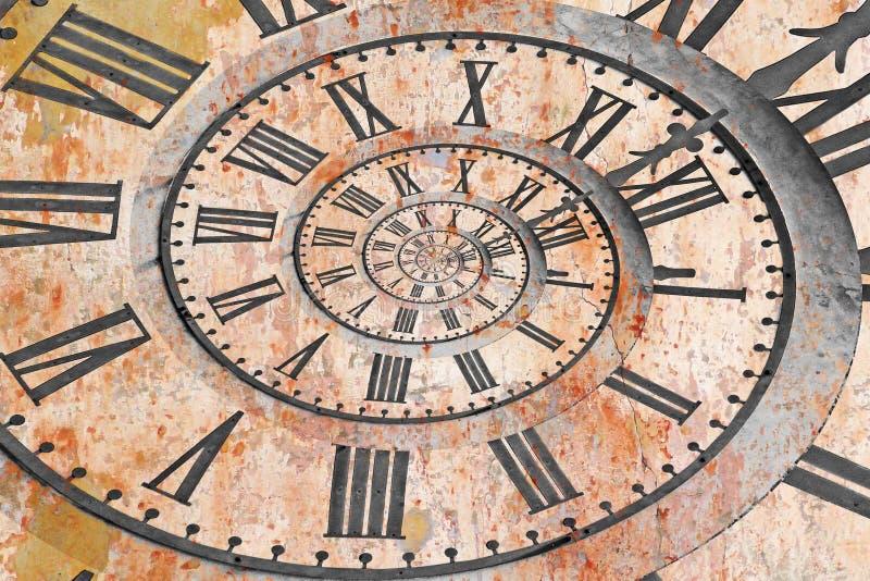 在drost作用的时钟 库存照片