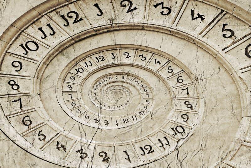 在drost作用的时钟 免版税库存图片