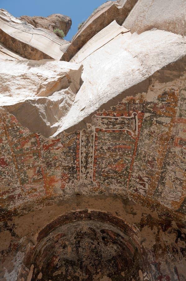 绘画在Egritas教会, Ihlara谷里 库存照片