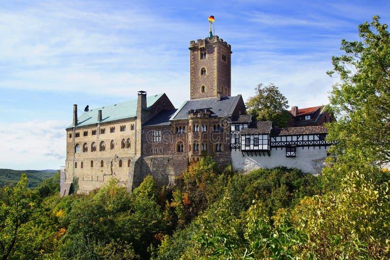 在Eisenach的Wartburg城堡,德国 免版税库存图片