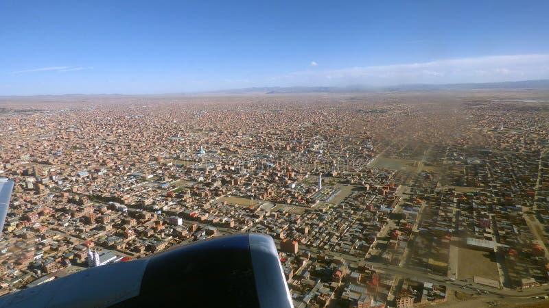 在El女低音的离地升空 玻利维亚,南美 免版税图库摄影
