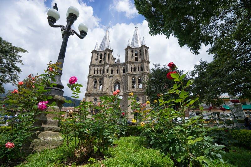 在El Jardin哥伦比亚的大教堂 免版税库存图片