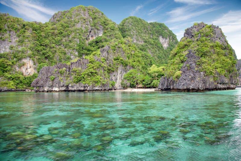 在El Nido, Palawan,菲律宾的美好的风景 库存照片