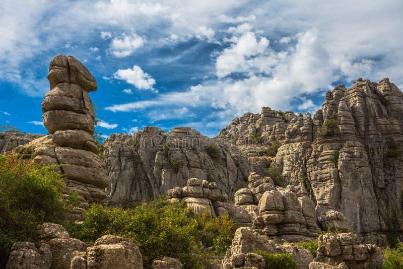 在El Torcal的岩石 库存照片