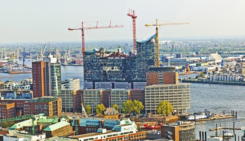 在Elbphilharmonie的看法在汉堡 免版税库存照片