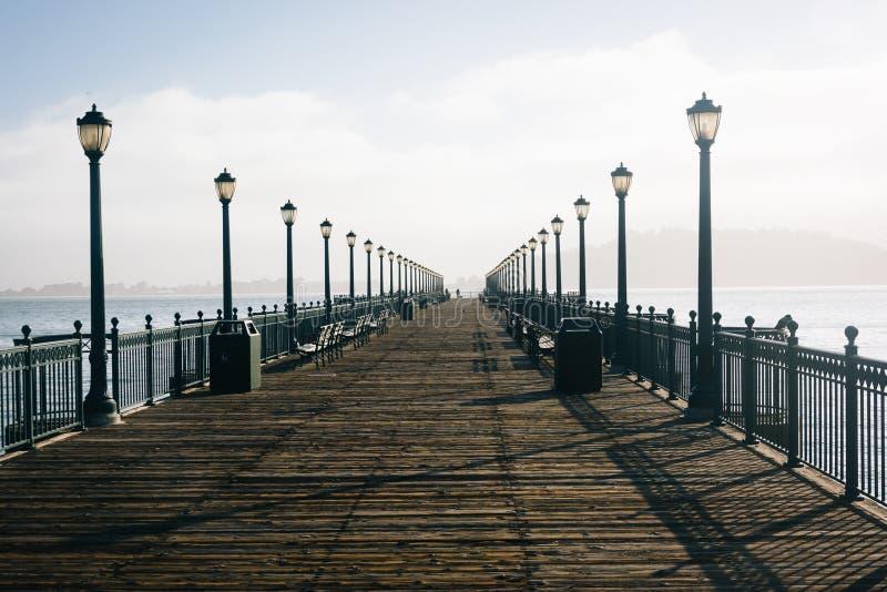 在Embarcadero的码头7,在旧金山 免版税库存图片