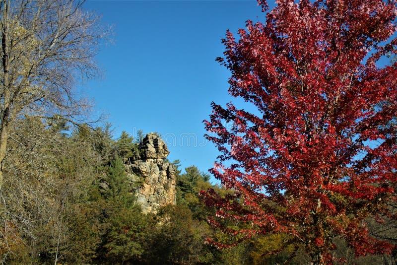 在Enee点州长推托的秋天 库存图片