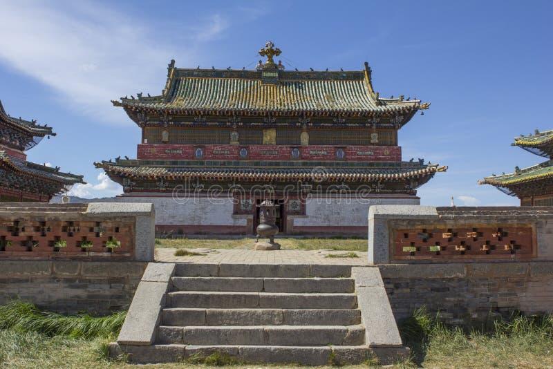 在Erdene Zuu修道院的寺庙 库存照片