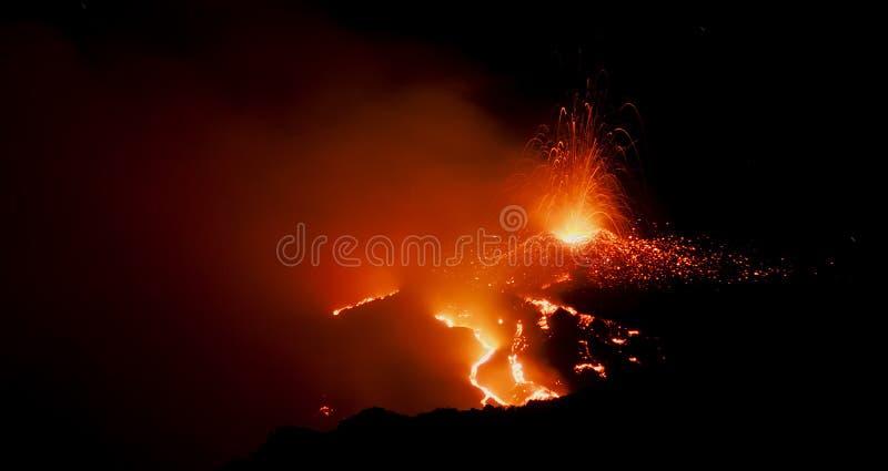 在Etna的喷泉 免版税图库摄影