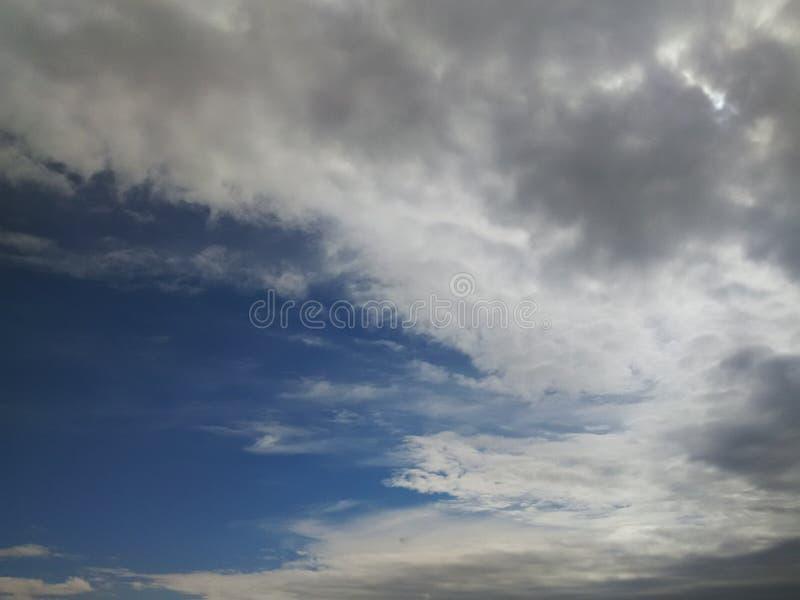 在evining的天空 图库摄影