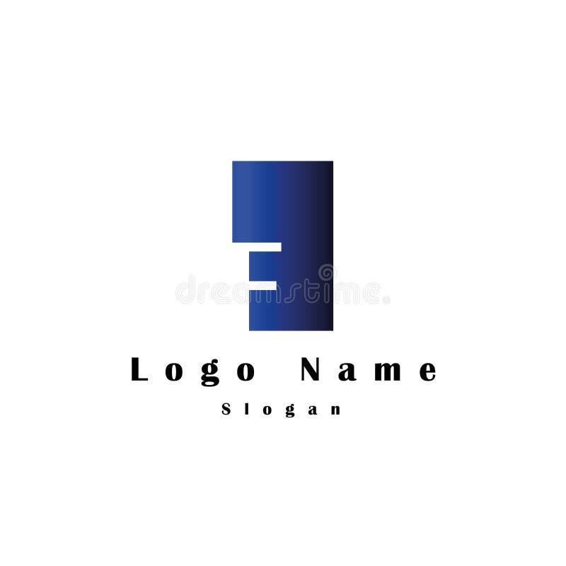 在F商标上写字有长方形背景和梯度颜色 皇族释放例证
