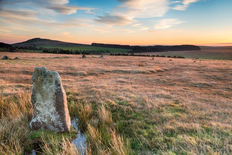 在Fernacre的常设石头 库存照片