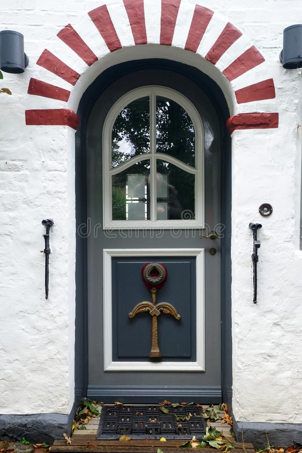 在Foehr海岛上的门 免版税库存照片