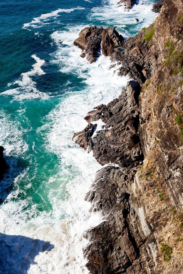 在Forster,新南威尔斯,澳大利亚的峭壁海岸线 库存照片