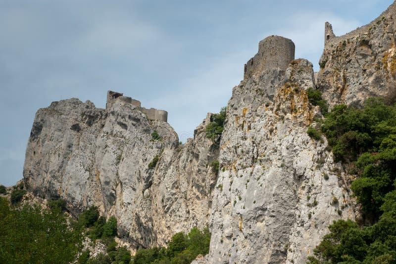 在Franch比利牛斯的峭壁 库存照片