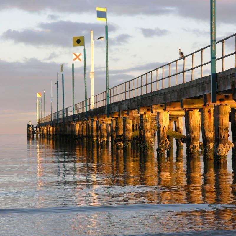 在Frankston的码头 免版税库存图片