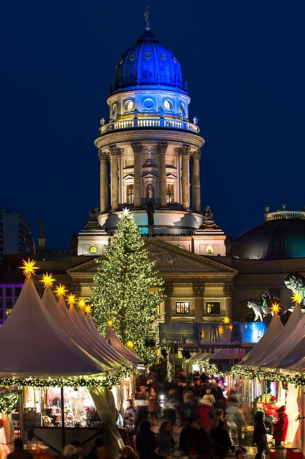 在Gendarmenmarkt的圣诞节在柏林,德国 库存照片