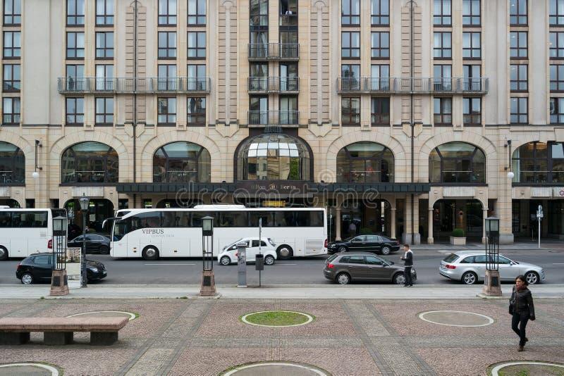 在Gendarmenmarkt的希尔顿饭店 库存照片