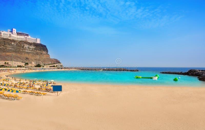 在Gran Canaria的Amadores海滩 免版税库存照片
