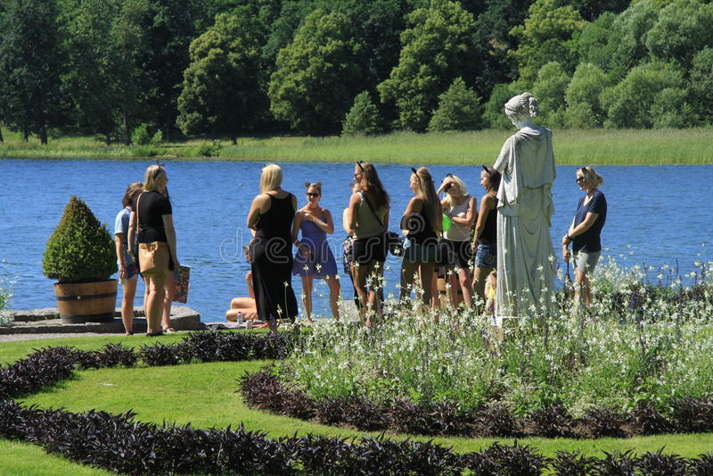 在Gripsholm城堡的赫柏雕象 免版税库存照片