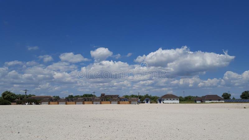 在Gura Portitei黑海手段的晴朗的夏日 库存图片