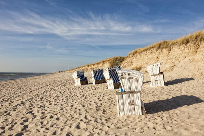 在Hörnum,叙尔特岛,德国的海滩 库存照片