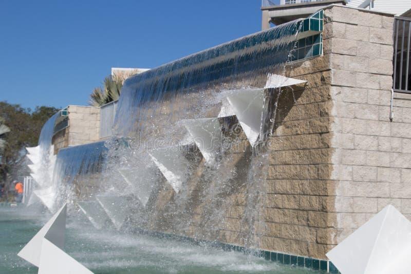 在Hammond体育场的喷泉复杂CenturyLink的体育的 免版税库存照片