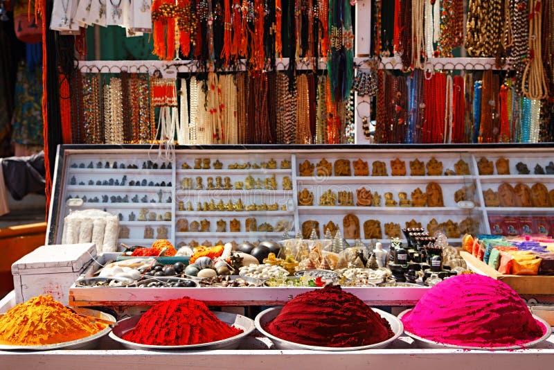 在Hampi的跳蚤市场,印度 图库摄影