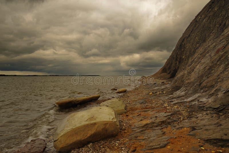 在Hanklit的风雨如磐的黑暗的天气 免版税图库摄影