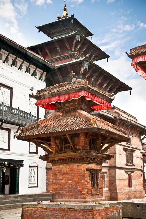 在Hanuman Dhoka里面,老王宫在加德满都,尼泊尔。 库存图片