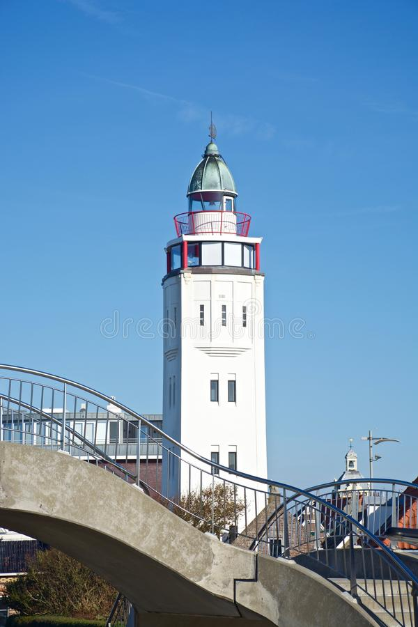 在harlingen的灯塔 库存照片