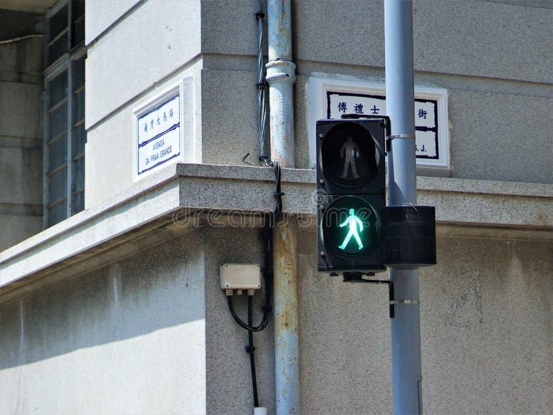 在HK的红灯 免版税库存照片