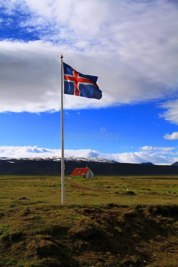在Hvitarnes小屋附近,冰岛 免版税库存照片