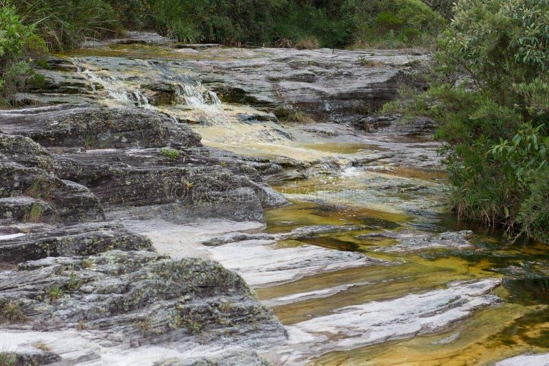 在Ibitipoca国家公园的水方式 免版税库存照片
