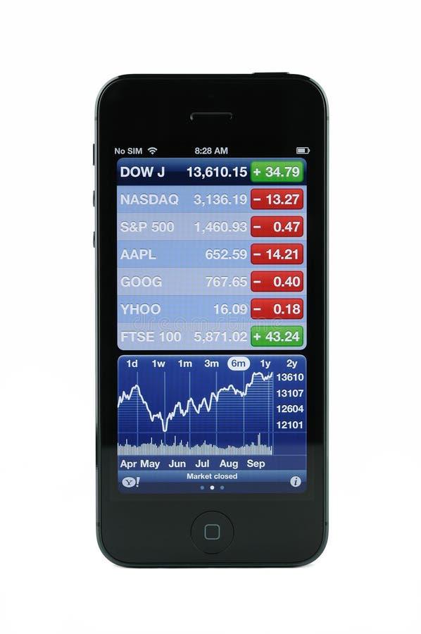 在iPhone 5的库存屏幕 免版税库存图片