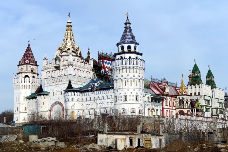 在Izmailovo `的文化娱乐复杂`克里姆林宫 库存照片