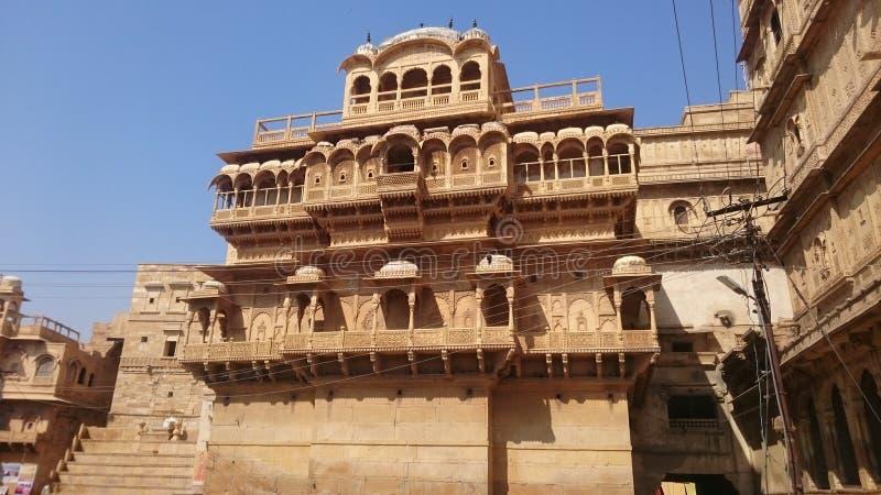 在jaisalmer拉贾斯坦的伟大和著名堡垒 免版税库存图片
